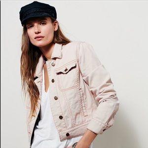 Free people pink denim jacket